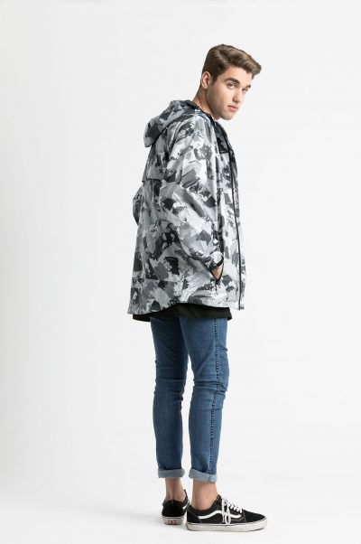 mens trendy lynx raincoat