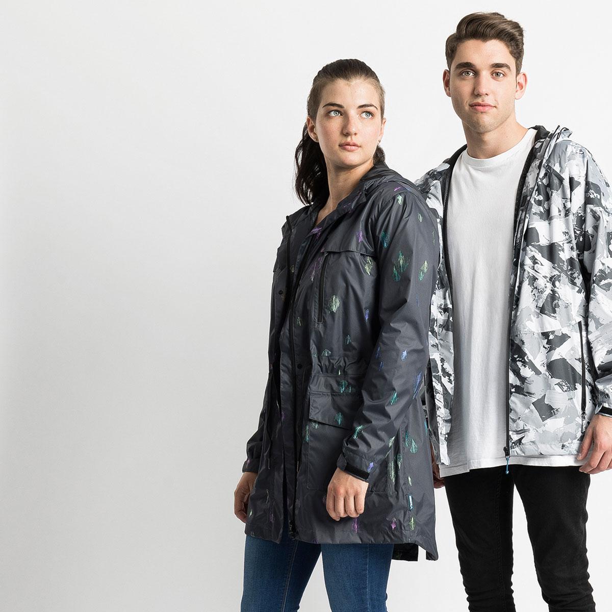 artist collaboration stylish raincoats