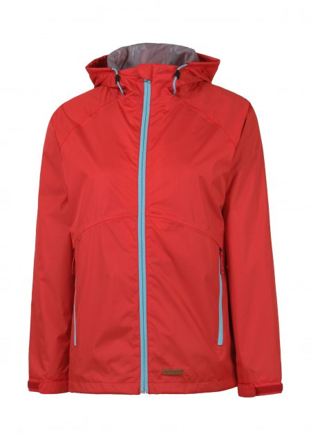 Womens red rain jacket Carina