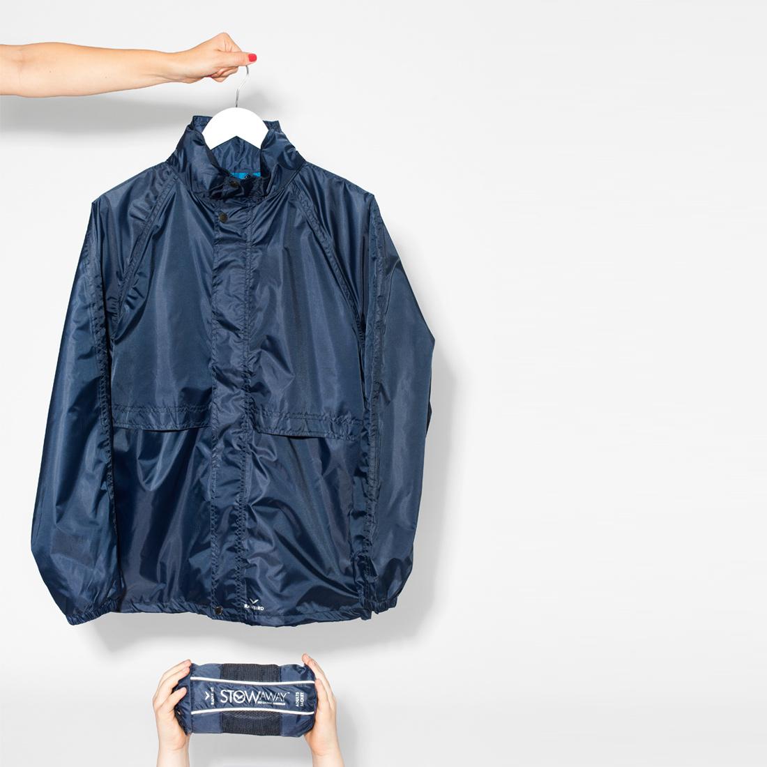 Navy STOWaway raincoat