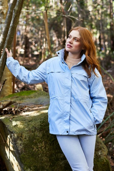 WOMENS STOWAWAY RAIN JACKETS POWDER BLUE