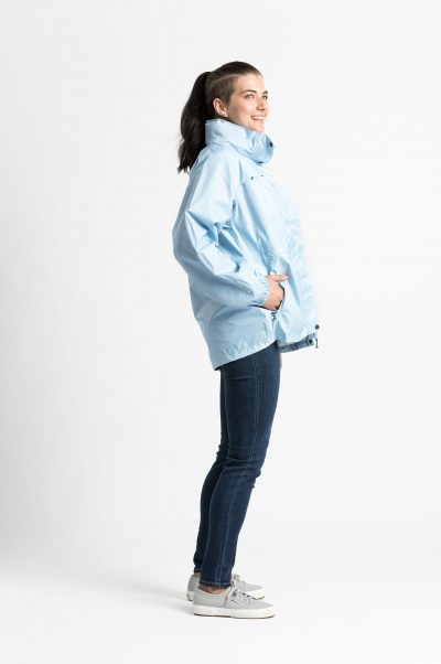 womens stylish blue raincoat