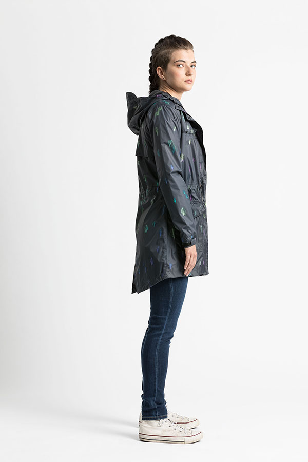 womens long stylish tucana raincoat