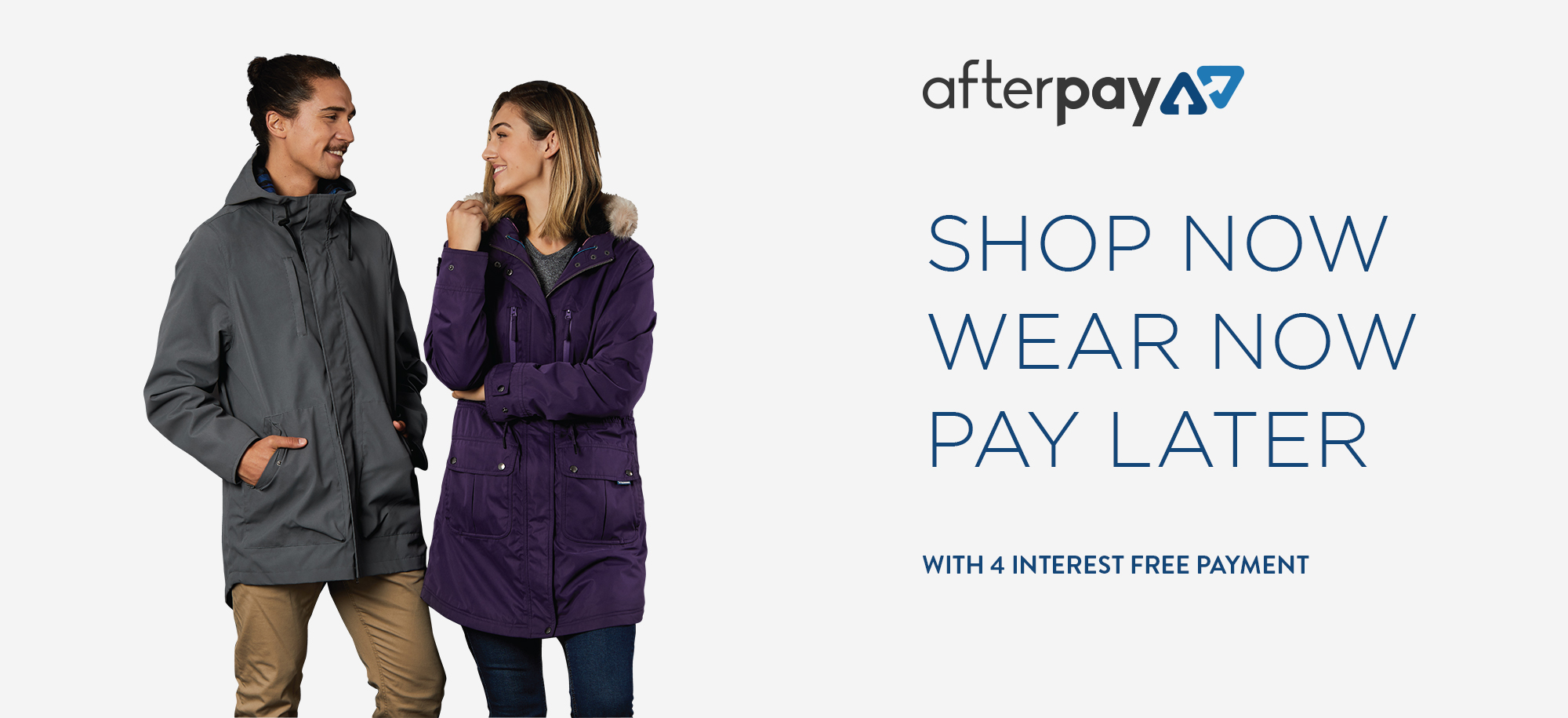Afterpay page banner